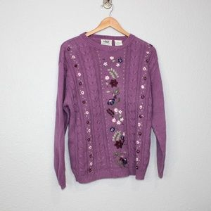 Vintage Northern Reflections Embroidered Sweater M